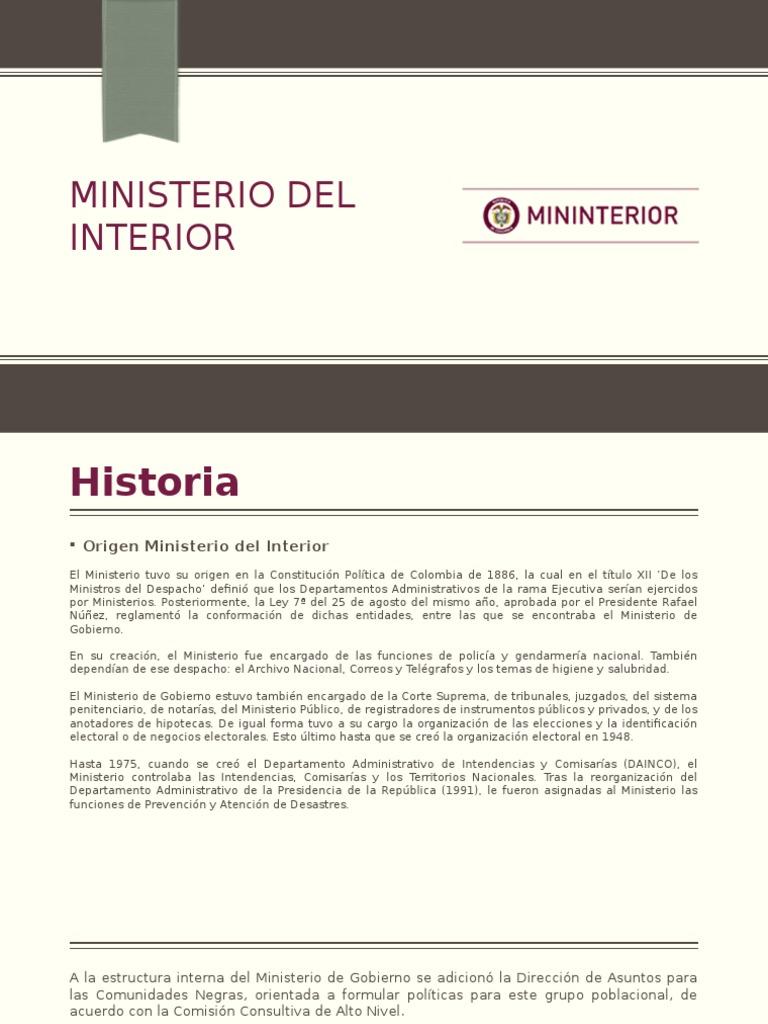 Ministerio Del Interior Política Gobierno