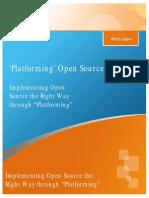 Platforming Open Source