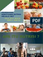 Pemenuhan Kebutuhan Nutrisi Melalui Ngt