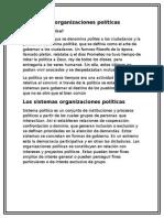 Las Organizaciones Políticas