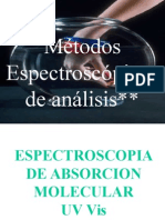 Metodos espectroscopicos de analisis