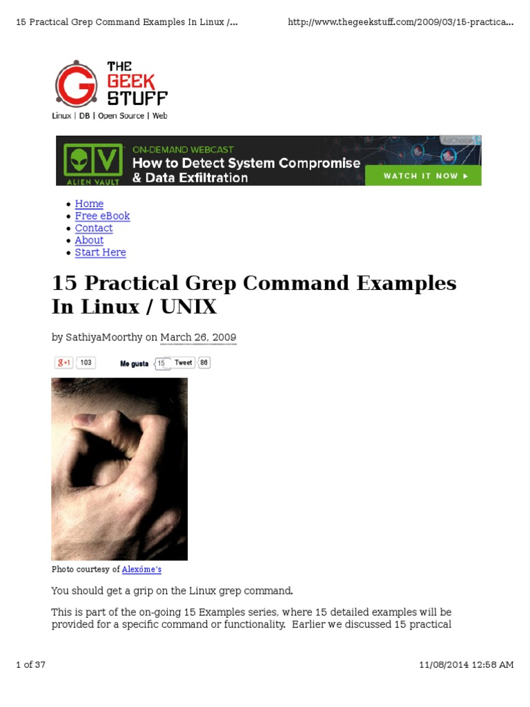 15 Practical Grep Examples In Linux Unix Regular Expression Unix