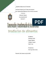 Informe Irradiacion de Alimentos