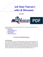 Vet State Benefits & Discounts - NY 2015^