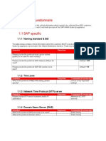 Customer Questionnaire - SAP HANA