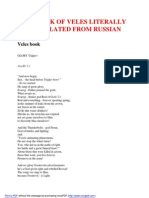 Literal Translation of Veles Book From Russian