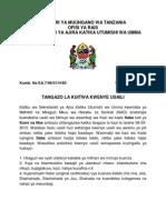 Kuitwa Kwenye Usaili - Mdhibiti Na Mkaguzi Mkuu Wa Hesabu Za Serikali (NAO)