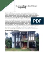 Dijual Rumah Di Jonggol, Bogor, Rumah Mewah Harga Miring