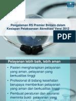 Pengalaman RS Swasta Dalam Kesiapan Pelaksanaan Akreditasi