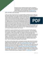 Family Detention Key Points July 2015
