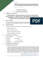 Memoria Sanitarias - Cebe Prite 35001