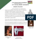 Conocimiento y Uso Del Vernier y Micrometro