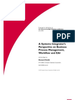 A Systems Integrator's Perspective on BPM