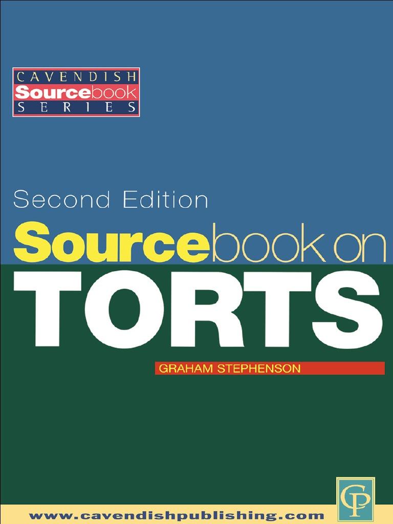 74d029884 Sourcebook on Tort