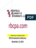 2014 Investment Conference Corrected Version 1