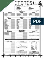 Setite Character Sheet