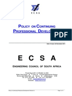 CPD Policy ECSA