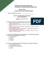 MECH3660 5660 Quiz 1 Automation Solution 2014