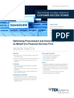 Optimizing Procurement and Invoicing Processes for Financial Client