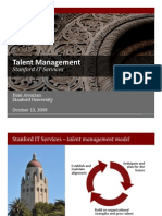 Stanford Talent Management 101309