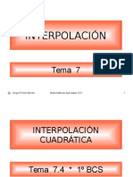 Interpolación.