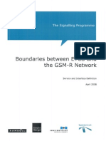 Boundaries Between ETCS and the GSM-R Network