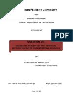 Mba _individual Tp of Mgt of Organization