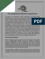 Tree Ring Natural History Fountain Pen