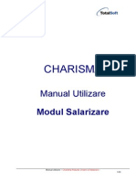 MANUAL - Manual Salarii Pontaj Pe Centre de Cost Charisma