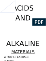 Acids and Aikalines