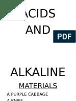 Acids and Aikalines