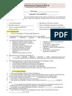 Imperial Horizons Mandarin Questionnaire 14-15