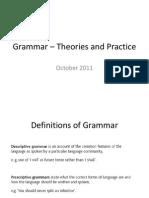 grammar theories and practice