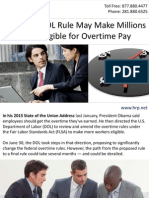 Proposed DOL Rule May Make Millions More Eligible for Overtime Pay