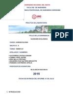Informe de Agroecologia