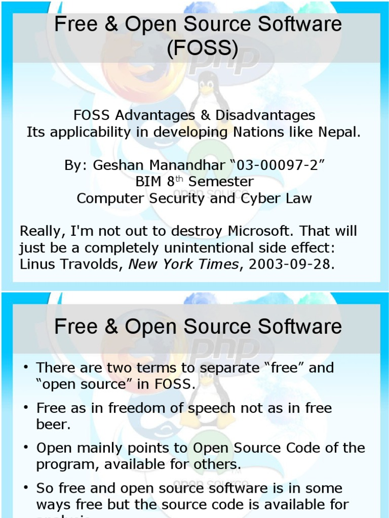 Advantages and Disadvantages of FOSS | Free Software | Computer Science