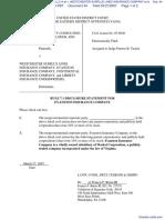 BLACKWATER SECURITY CONSULTING, LLC et al v. WESTCHESTER SURPLUS LINES INSURANCE COMPANY et al - Document No. 44