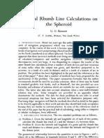 Rhumb Line Calculations, Bennet