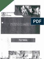 Gauteng Department of Health Patient Classification