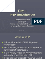 01PHP Introduction