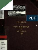 Transits of Venus and Mercury, Morrison