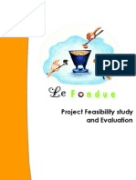 Project feasibilty Study and Evaluation_Le Fondue