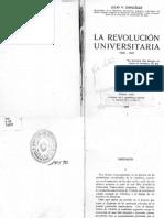 La Revolucion Universitaria - 1918 - 1919 - Julio v. Gonzales