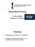 Lecture 5 Sheet Metal Forming