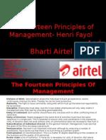 Bharati Airtel and Fayol's Principal