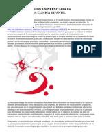 CURSO DE EXTENSION UNIVERSITARIA En NEUROPSICOLOGIA CLINICA INFANTIL