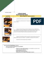 criteria sheet 14