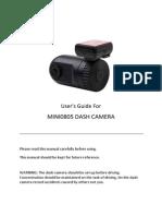 Dash Camera Mini0805 Manual Philippines