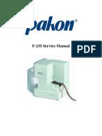 Pakon f235 Service Manual
