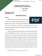 MATTHEWS v. PHILADELPHIA POLICE DEPARTMENT et al - Document No. 2